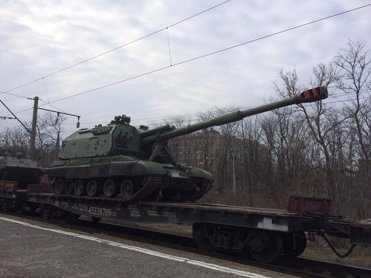 """""""Пушки МТ-12 подлежат выводу в первую очередь"""", - украинские подразделения начали отвод тяжелого вооружения от Мариуполя - Цензор.НЕТ 6175"""
