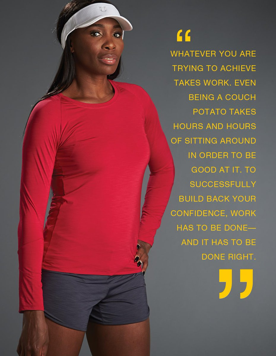 @Venuseswilliams on ways to gain confidence back, in latest @ReadThrive issue http://t.co/8SMB8OUjnj @EleVenbyVenus http://t.co/ZDCpFzqUcX