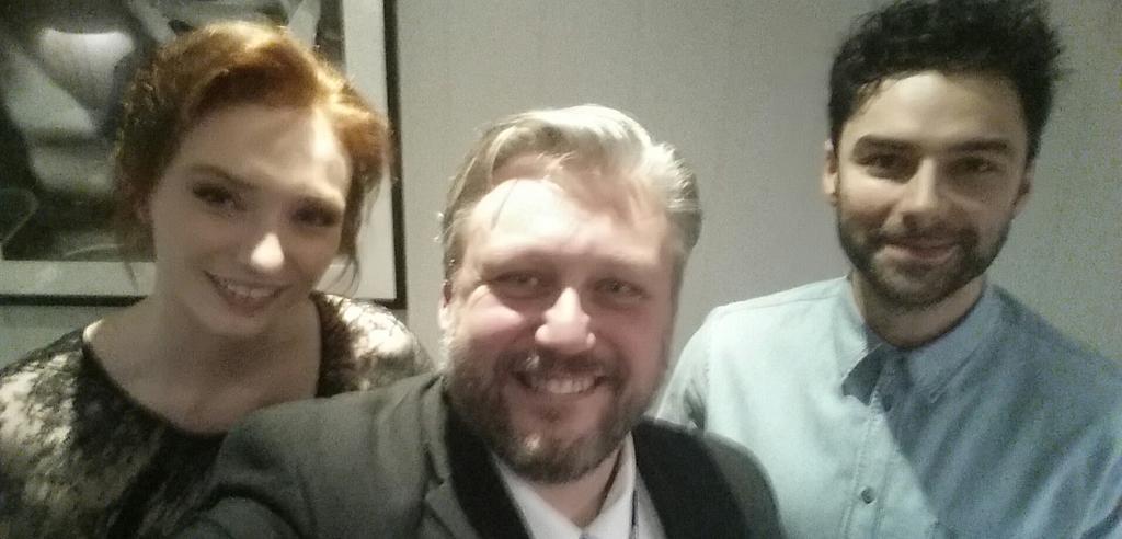 A @PoldarkTV selfie with @AidanTurner & @ETomlinsonCom Interview on @BBCCornwall tomorrow http://t.co/iWRZjHIXZ2