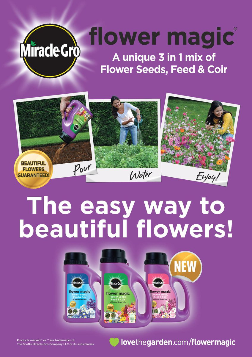 #RTToWin #Follow Retweet & Follow for a chance to win 1 of 10 @MiracleGro Flower Magic's. Winner announced 2/3/15 9am http://t.co/98JXcG1K3v
