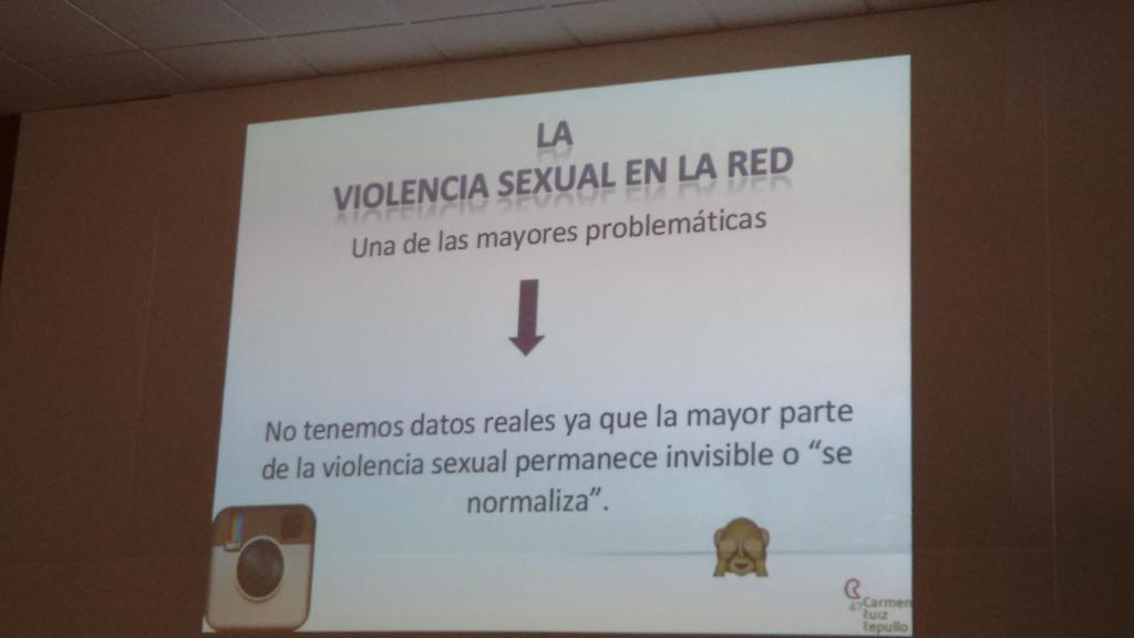La mayor parte de la violencia sexual permanece invisible o se normaliza. (@CarmenRuizRepul ) #conectadoyseguro http://t.co/UfAW6IgpKL