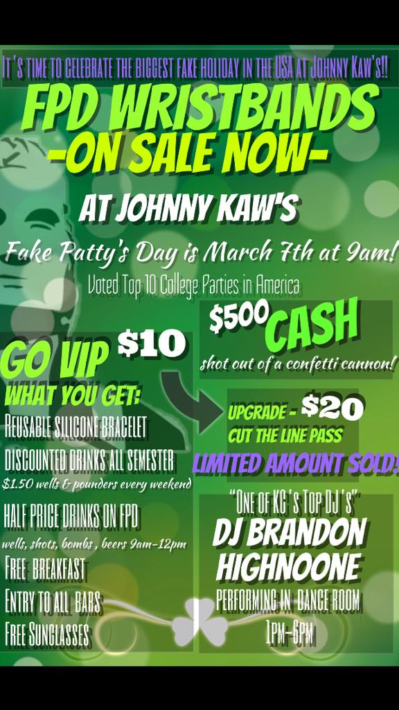 FPD BANDS ON SALE NOW! Go VIP $10 & Get DISCOUNTED DRINKS Every Weekend! $500 CASH CANNON w @z963 @DJHIGHNOONE #FPD15 http://t.co/gldQ1tanqa