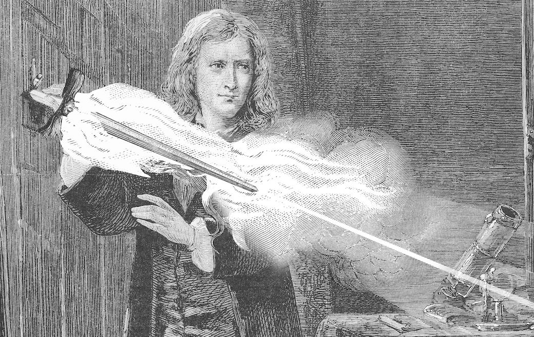 That's what Newton always needed. A frikkin laser sword.