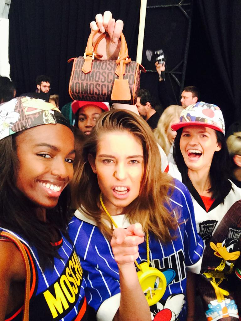 #squad in lineup at @moschino 🙌 http://t.co/XVfmYTk44K