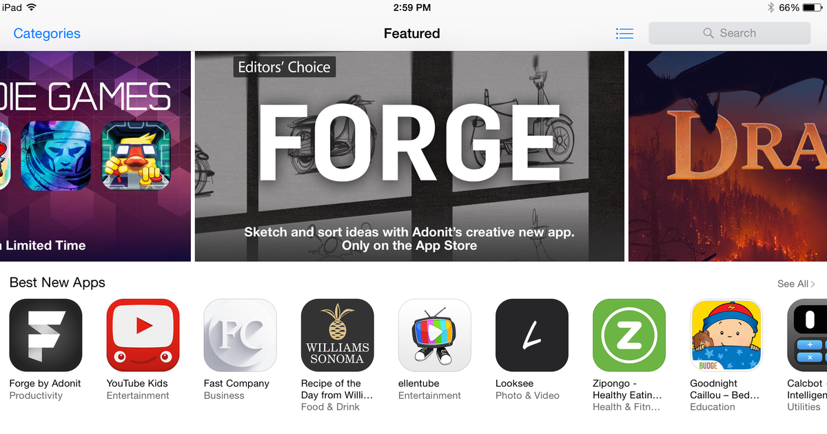 Featured in the App Store: Forge for iPad! http://t.co/2ir9SBHp9p #BuildWithForge http://t.co/2JRt1DJGpr
