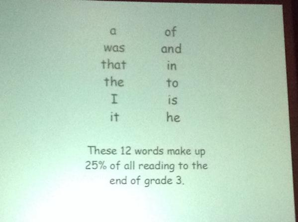 RT @mSchlemko: @MiriamTrehearne: 12 little words that must be taught for kindergarten  #summit6 #irecpd http://t.co/nmnfZXARN7