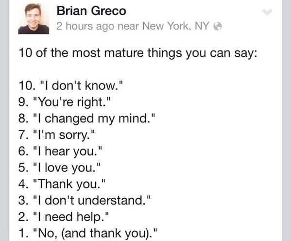 My mature list