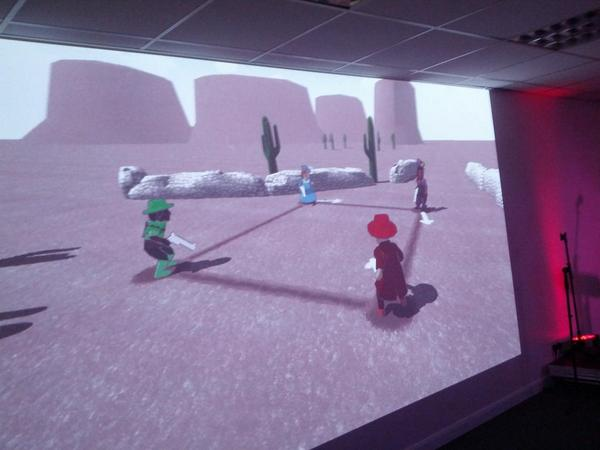 @S0phieH 's Bang! Bang! Bang! is a audience favourite @_LadyCADE @gamecity #gamecity9 http://t.co/zUt9EnCObg