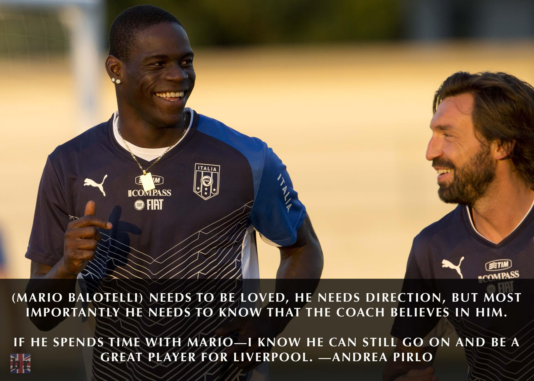 "B/R Football on Twitter: ""Andrea Pirlo: Mario Balotelli can become a  Liverpool great with a bit of love: http://t.co/LUjqdoAeGy  http://t.co/dPa2rHcH9I"""