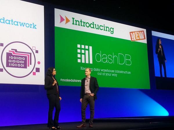 Introducing dashDB... #knowmoreinadash and #makedatawork.  #ibminsight http://t.co/N39bmPZ26A