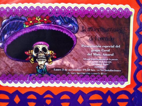 Colegio las am ricas on twitter listo el peri dico mural for Dia de los muertos mural