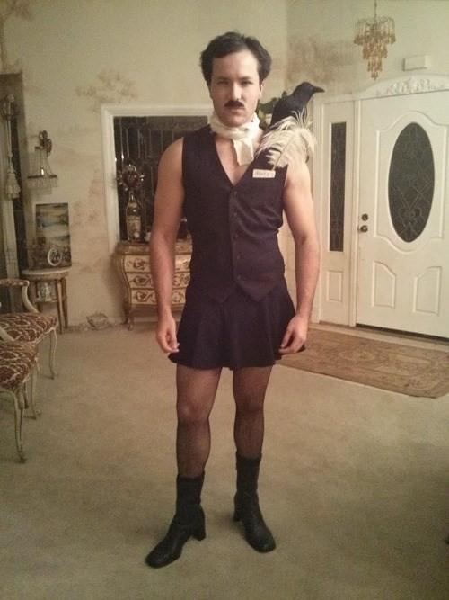 Halloween costume idea: Edgar Allan Ho http://t.co/ogFKaSxOGo