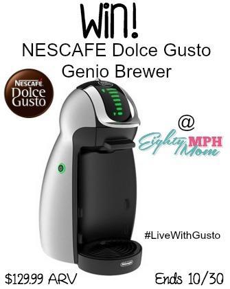 Win a Nescafe Dolce Gusto Genio Coffee Brewer ($129.99 ARV)! 10/30 #sponsored http://t.co/l1D6V0soWo #MC #win #coffee http://t.co/L6vTSRJYmY