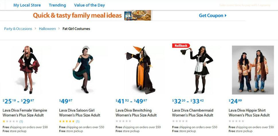 Walmart In Hot Water Over Fat Girl Halloween Costumes  Breitbart-2363