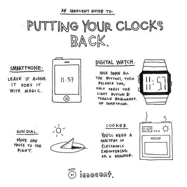 Handy guide to the clocks changing... Enjoy the extra hour! http://t.co/6jsA6HQxqW