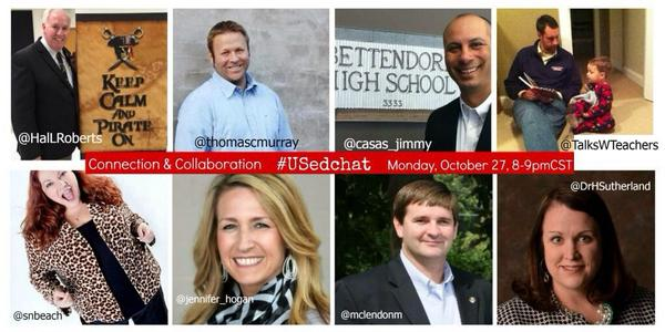 Thumbnail for #USedchat 10/27/14 - Connection & Collaboration