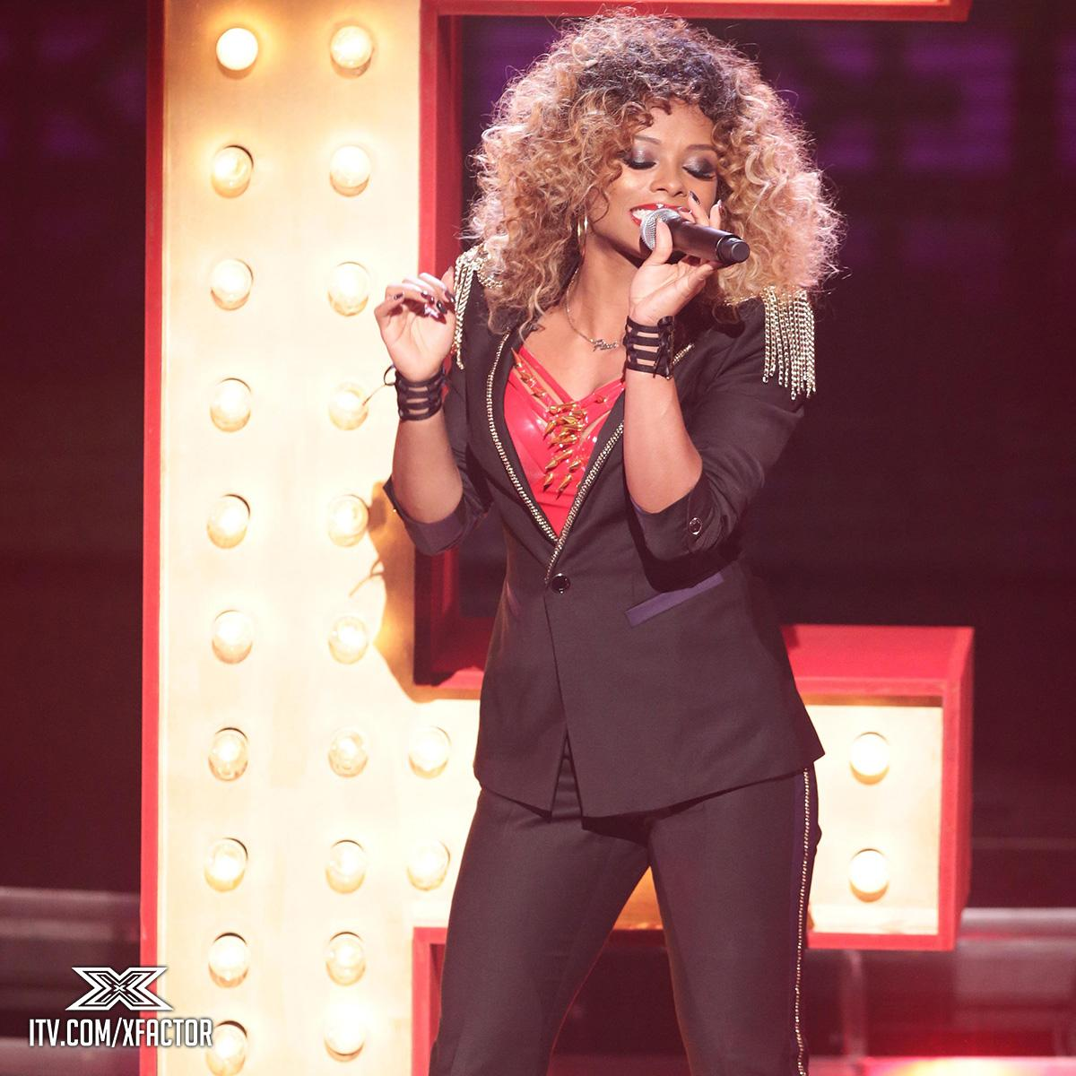 She's bringing the swag ce soir. Will Simon get out his personalised bank notes for @FleurEast?👠 #XFactorMoviesWeek http://t.co/mR3tRewND8