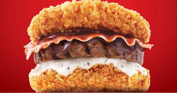 KFC เตรียมเปิดตัวเบอเกอร์แบบใหม่ เอาไก่แทนขนมปัง !!! http://t.co/1h967SNpwB http://t.co/PbTGsBdg3w
