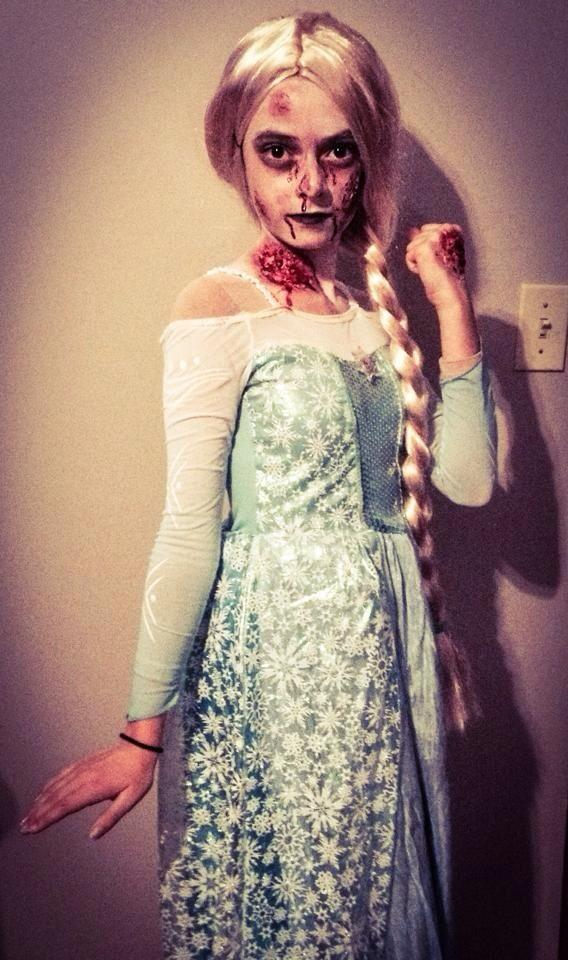 Teresa Fox On Twitter My Daughter Scaring Me As Zombie Elsa
