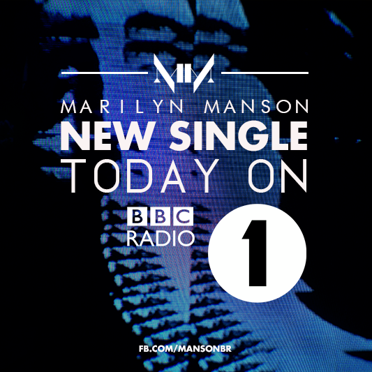 Listen @MarilynManson new single today 9PM UK time on BBC Radio1 Rock Show with @DanielPCarter http://t.co/qgcqIeYobj http://t.co/6n5pflN8zm