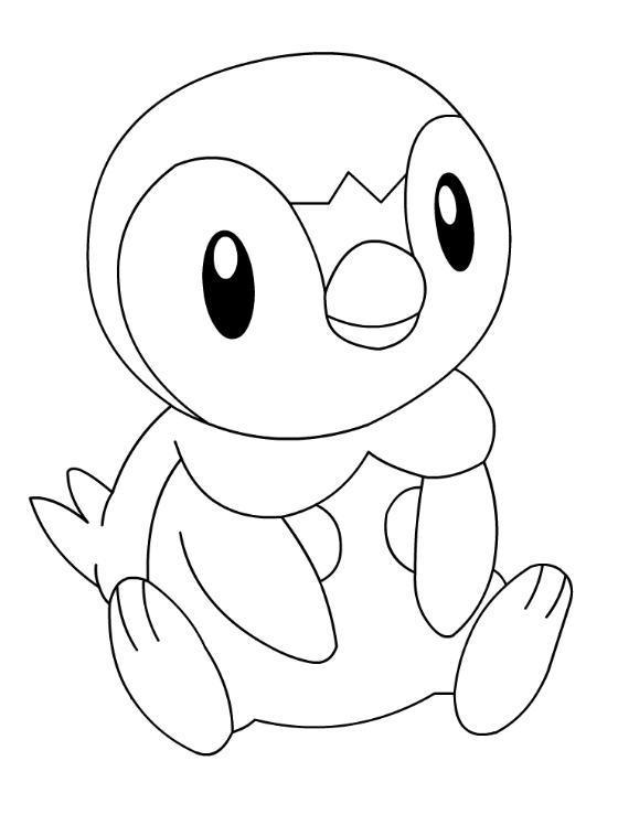 "piplup cute coloring pages | Pokemon Kleurplaten on Twitter: ""#kleurplaat #pokemon # ..."
