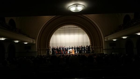 一橋大学兼松講堂でのモンテヴェルディ《聖母マリアの夕べの祈り》、盛況のうちに終わりました 。ご来場いただいた皆さま、ありがとうございました。  http://t.co/R2qy8w5Ew1 http://t.co/E2l1fygcct
