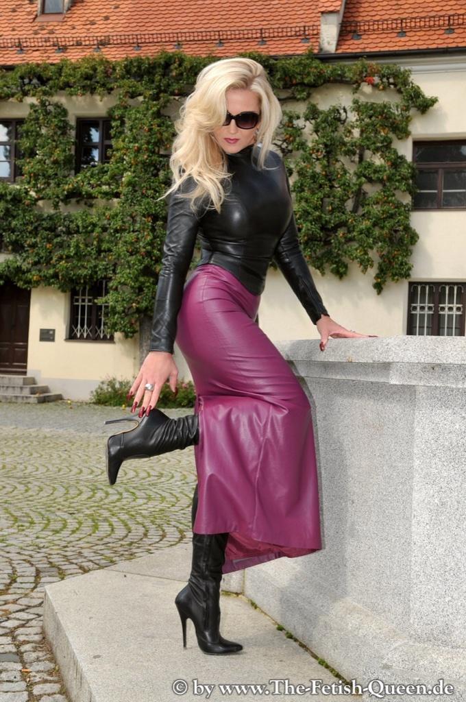 Leather boot fetish