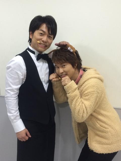 無事に『Kiramuneリーディングライブ』夜の部、2日目終わりましたぁ〜〜〜(^◇^)観に来て下さった皆さん楽しんでいただけましたでしょうか?写真は俺の飼い主、マスターこと野島健児さんと一緒に撮っていただきましたぁ〜☆ pic.twitter.com/CaP8uiQGpC