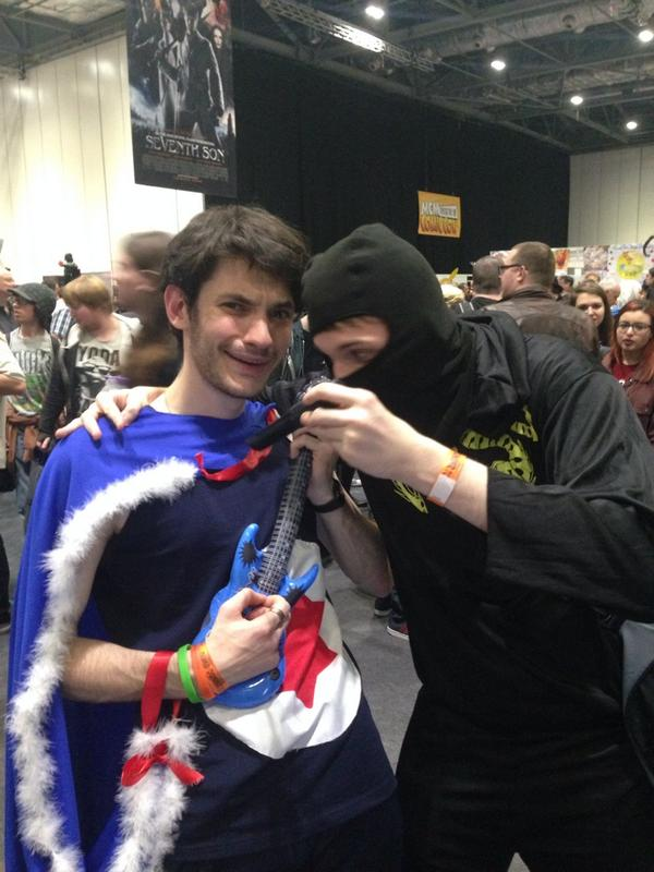 Gangles on Twitter  Danny Sexbang and Ninja Brian spotted at London Comic con! Brian even stabbed me! #SoLegit @ninjasexparty @bwecht ...  sc 1 st  Twitter & Gangles on Twitter:
