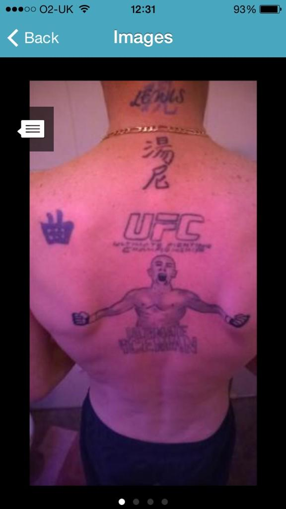 It's like he's proud of his tattoos. The one on his shoulder looks like a shopping basket @ShitTats @PlentyFishFails http://t.co/mufc4bmA8b