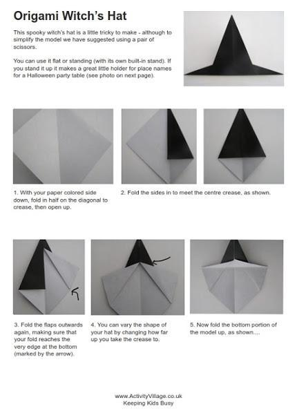 How To Make An Origami Samurai Hat - Folding Instructions ... | 608x430