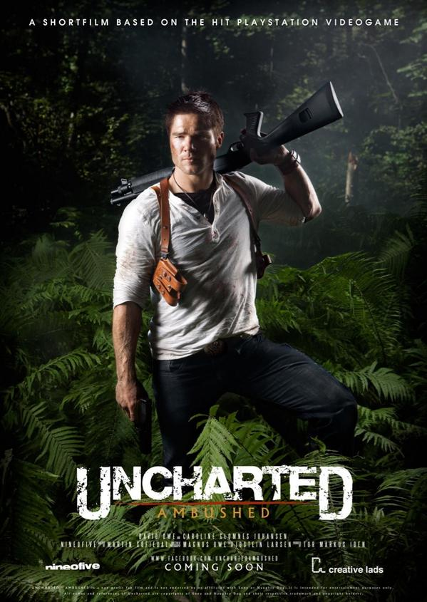 uncharted movie poster ign boards
