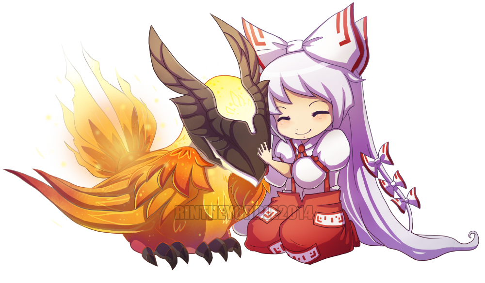 rin on twitter mokou from touhou and phoenix from dota2