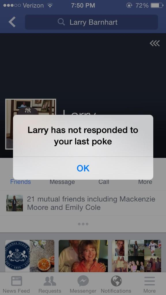 has not responded to your last poke