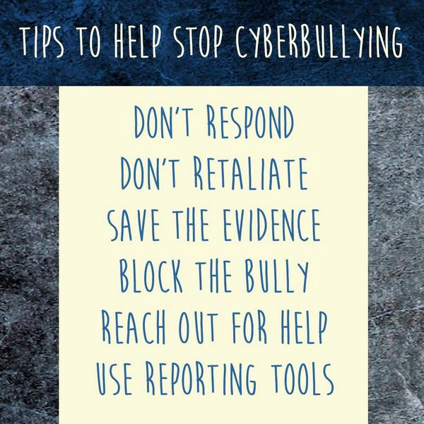 Image result for top tips to stop cyber bullying
