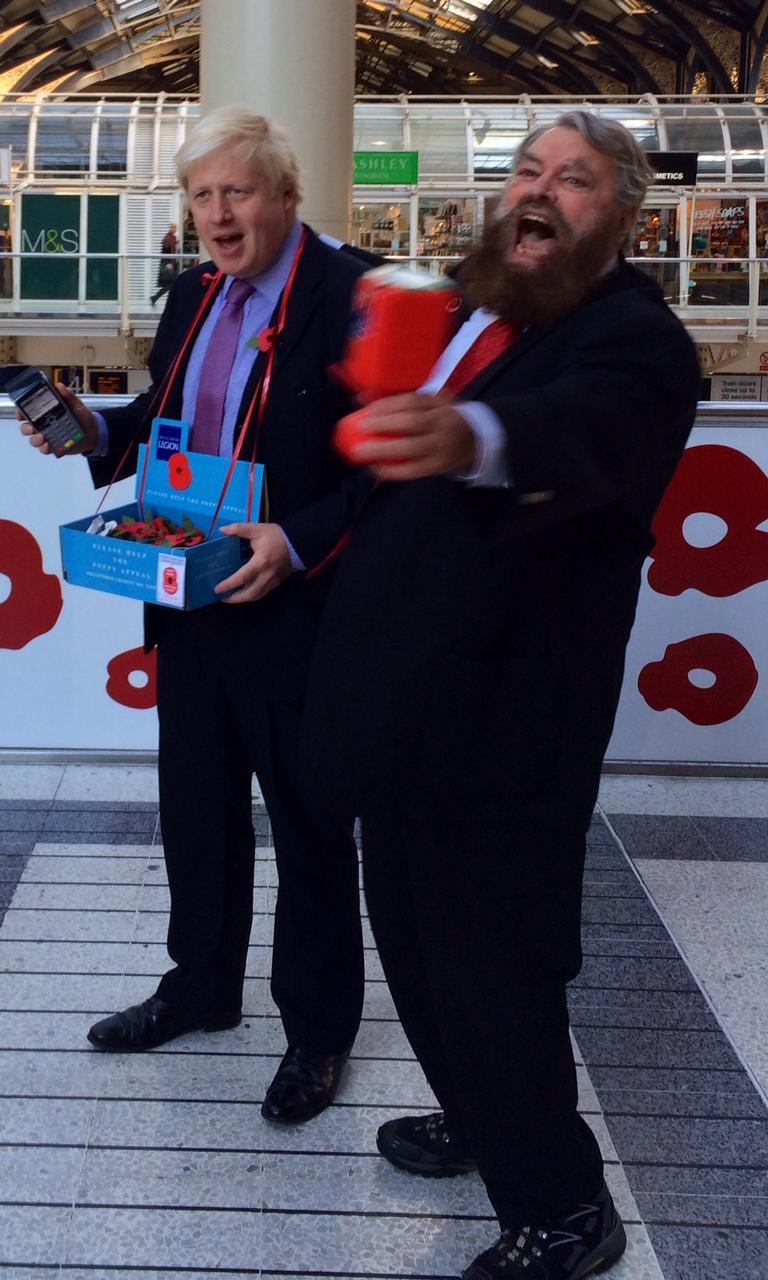 Acting legend @brianblessed and service personnel help me to launch #LDNPoppyDay at Liverpool Street station today http://t.co/Vz7cPKgFUl