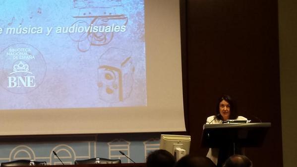 Mar Hernández, directora técnica @BNE_biblioteca | Mapas, partituras, archivos sonoros | #PatrimonioAudiovisual http://t.co/HZhjhfWe5O