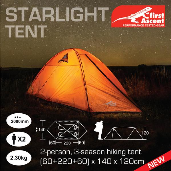 first Ascent on Twitter  NEW Starlight 2 person/3 seasonthe perfect hiking tent! //t.co/As9RcEadsh Soon to be reviewed @GetawayMagazine ... & first Ascent on Twitter: