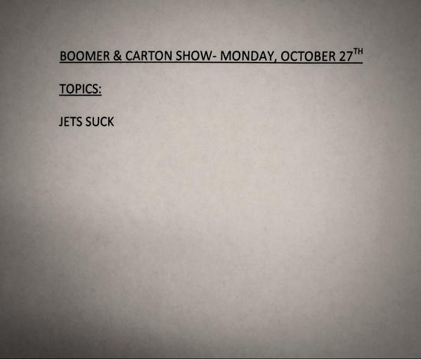 Today's Show Rundown http://t.co/CqQCBlQt4w