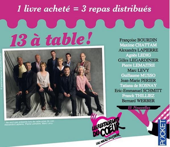 """Aidons les @restosducoeur : un livre acheté = 3 repas distribués. Sortie le 6 novembre . """"On compte sur vous !!!"""" http://t.co/2eF7fLRzYg"""
