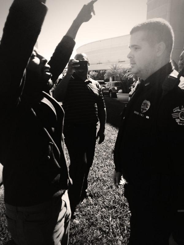 @TheIACP refuses to acknowledge the deadly trend of police brutality. #Ferguson2Orlando #IACP2014 http://t.co/IPZZmcgbXQ