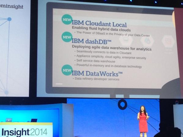 .@Inhicho announces IBM Cloudant Local, DashDB and Dataworks in @IBMBluemix #IBMInsight #datarefinery http://t.co/tYRARbOW41