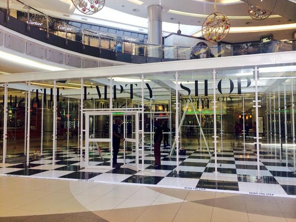 Almost done! Do check out #TheEmptyShop in Sandton City from Wednesday, 29 October, and most importantly...DONATE! http://t.co/9Bl0dSL3p0