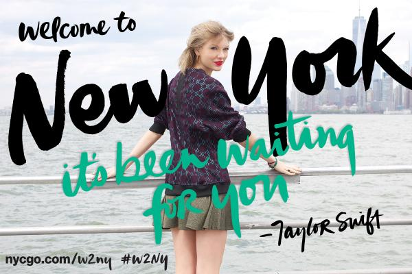 Breaking news: @taylorswift13 is our Global Welcome Ambassador! #WelcomeToNewYork! http://t.co/6p0bGZQoey #w2ny http://t.co/cwfPb9TAT5