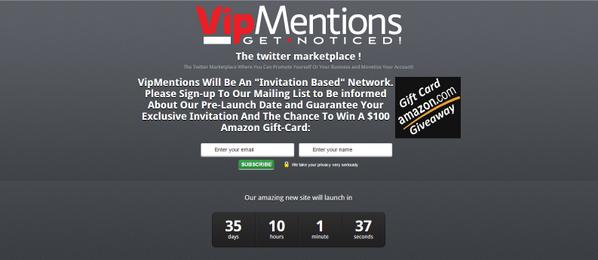 #StartUp - #Exclusive #Invitation To #VipMentions And A #Chance to #Win An #Amazon Gift-Card http://t.co/ogCPuuHu1H http://t.co/brFziqwCyn