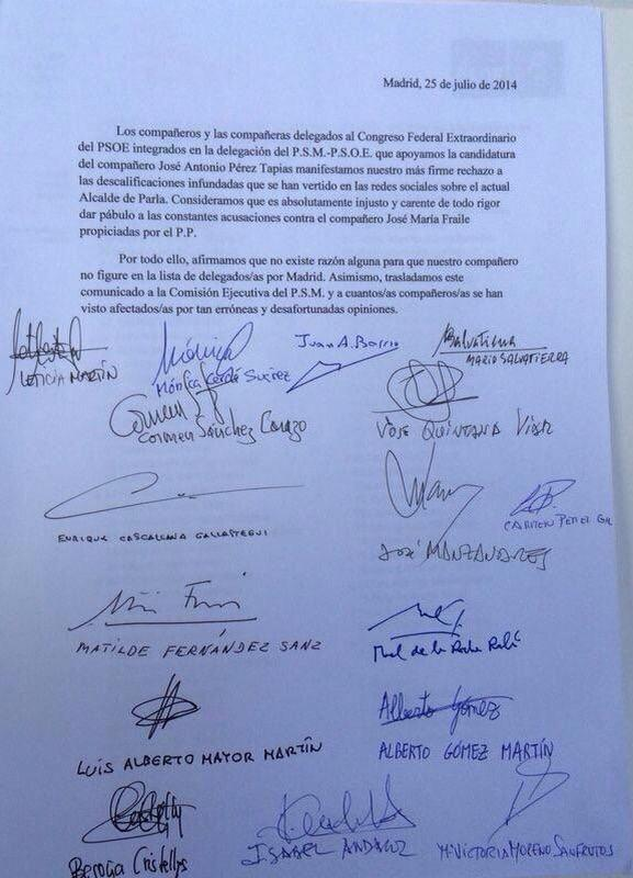 Socialistas q pusieron la mano en el fuego x el alcalde de Parla y se quemaron http://t.co/vQo1GtYVPt