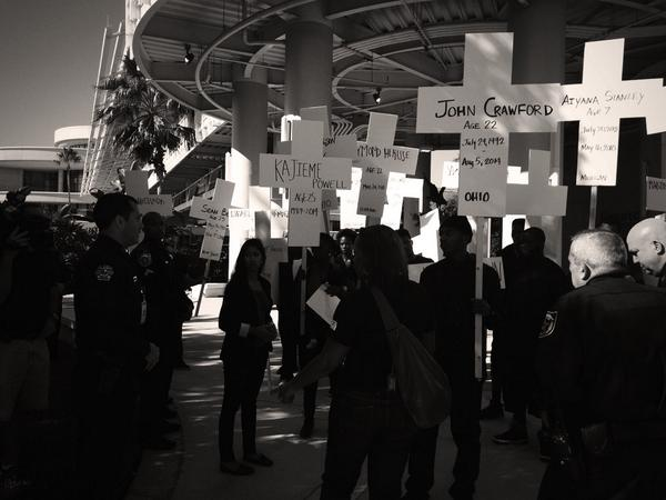 We're gonna push this line.  We did not come this far to be silenced. #Ferguson2Orlando #IACP2014 http://t.co/bFYR6Onodq