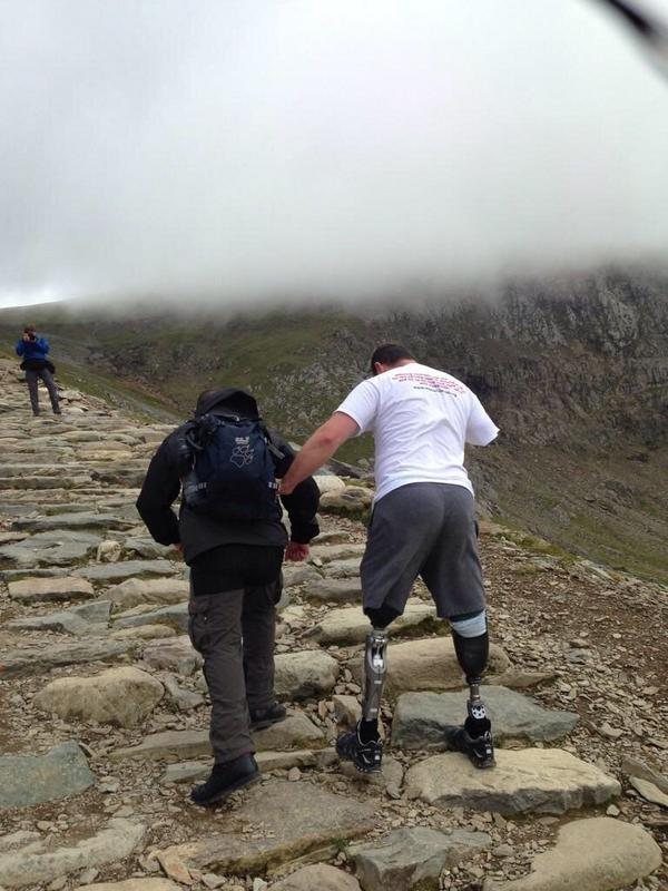 Thanks for all the comments today about my Snowdon Climb as the big man said What the mind believes the body achieves http://t.co/07RiiYog90