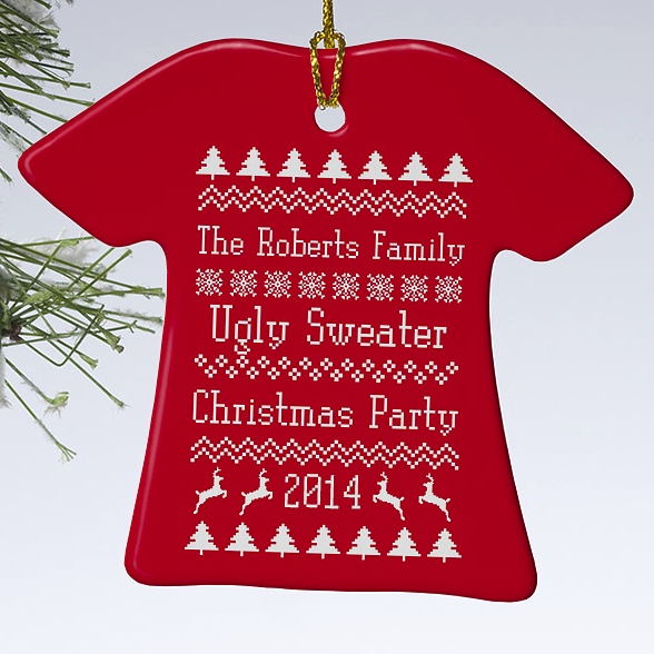 Personalized Ugly Christmas Sweater Ornaments? Yes, Please! http://t.co/xxuDPjK19W