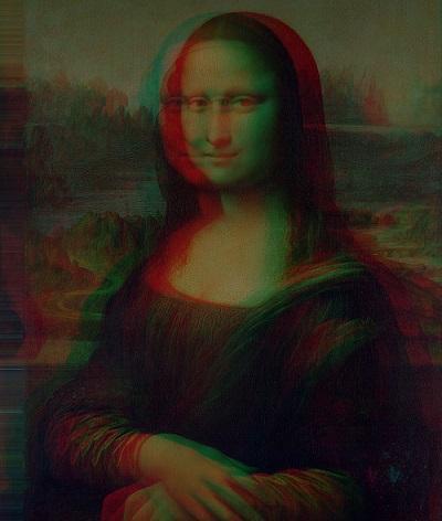 Anaglyph Mona Lisa